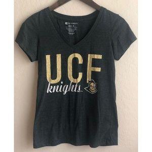 Dark Gray UCF Knights V-Neck T-Shirt